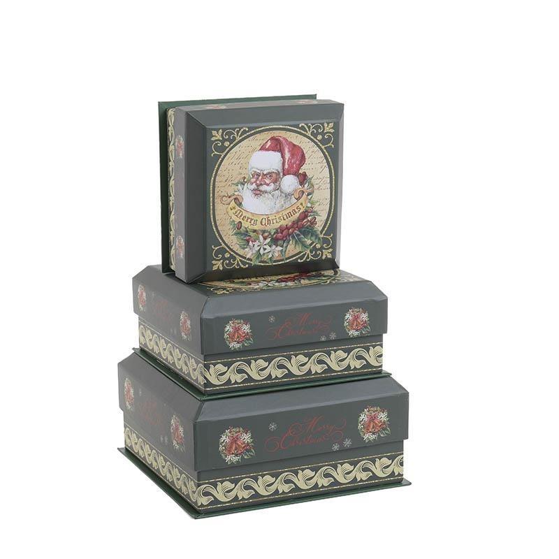 Χριστουγεννιάτικα Κουτιά (Σετ 3τμχ) InArt 2-70-926-0007