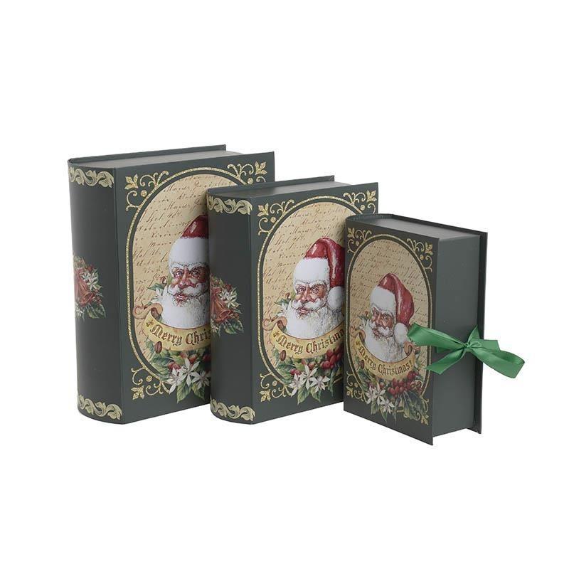 Χριστουγεννιάτικα Κουτιά (Σετ 3τμχ) InArt 2-70-926-0010 home   χριστουγεννιάτικα   χριστουγεννιάτικα διακοσμητικά