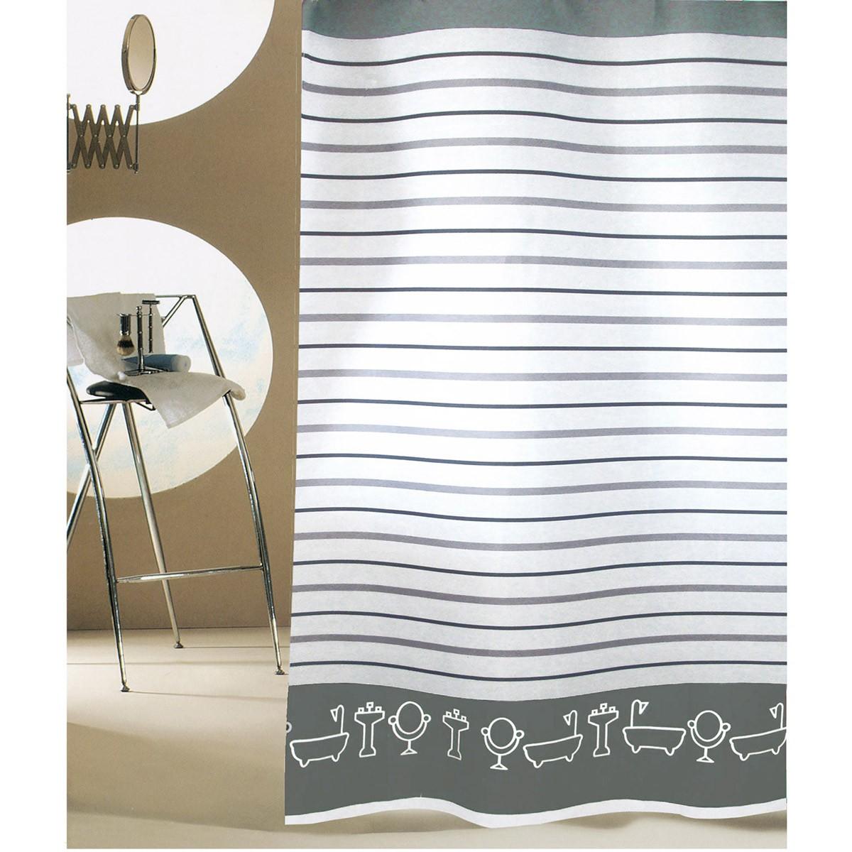 Κουρτίνα Μπάνιου (180x180) San Lorentzo Bathtubs Grey
