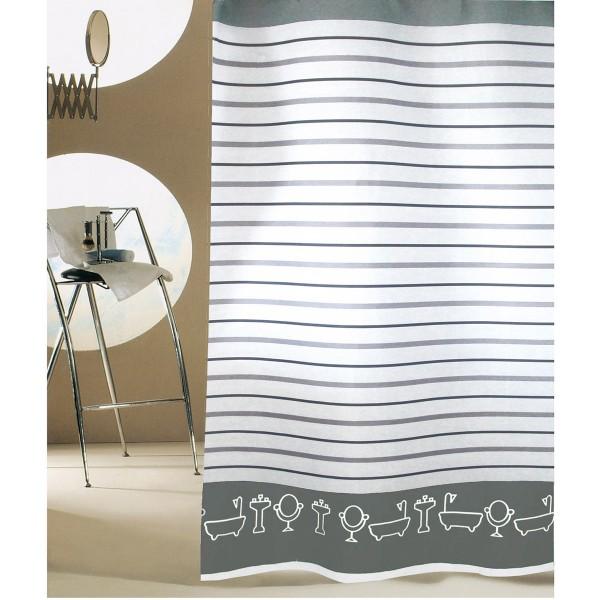 Κουρτίνα Μπάνιου (240x200) San Lorentzo Bathtubs Grey
