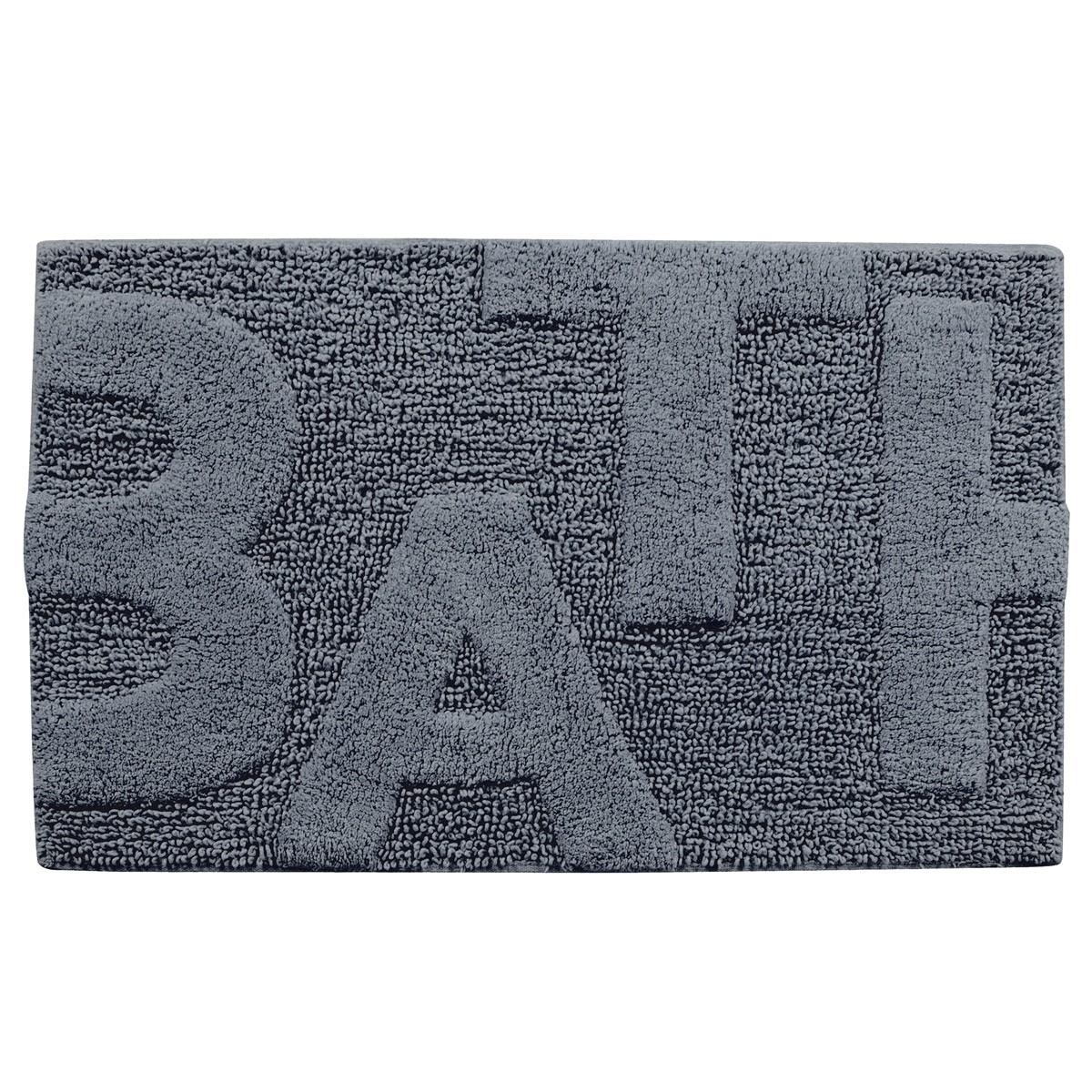 Πατάκι Μπάνιου (50×80) Rainbow Bagno 05570 Ανθρακί