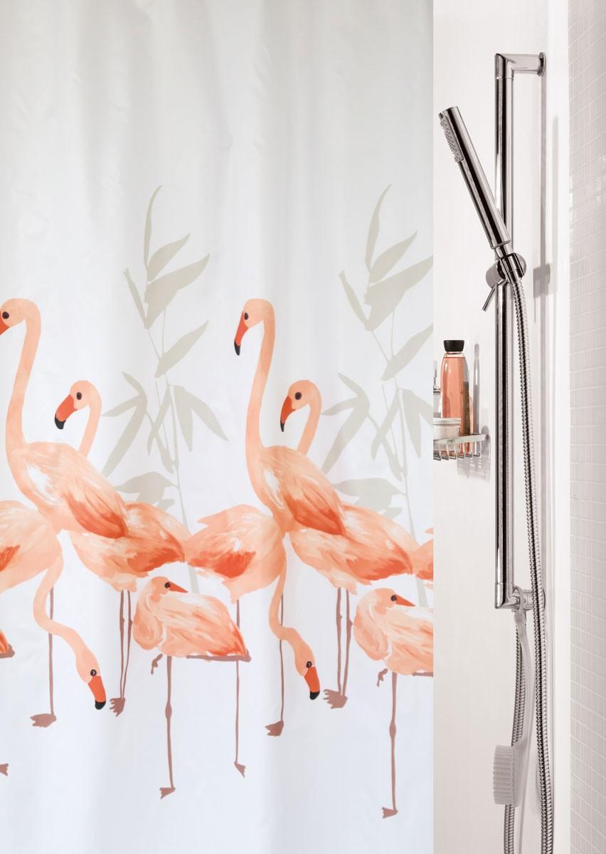 Κουρτίνα Μπάνιου (180×200) Spirella Flamingo