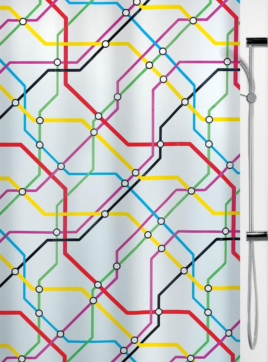 Κουρτίνα Μπάνιου Πλαστική (180×200) Spirella Metro
