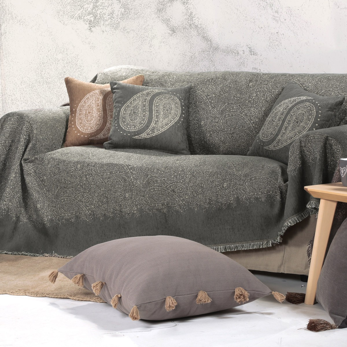 Ριχτάρι Τριθέσιου (170×300) Nef-Nef Maraces Winter Grey