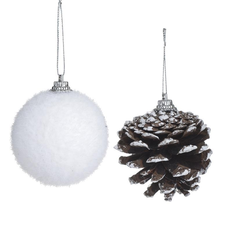 Χριστουγεννιάτικα Στολίδια (Σετ 10τμχ) InArt 2-70-675-0457