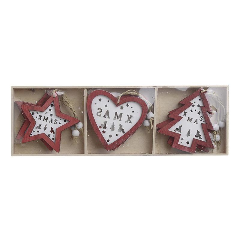 Χριστουγεννιάτικα Στολίδια (Σετ 9τμχ) InArt 2-70-146-0172