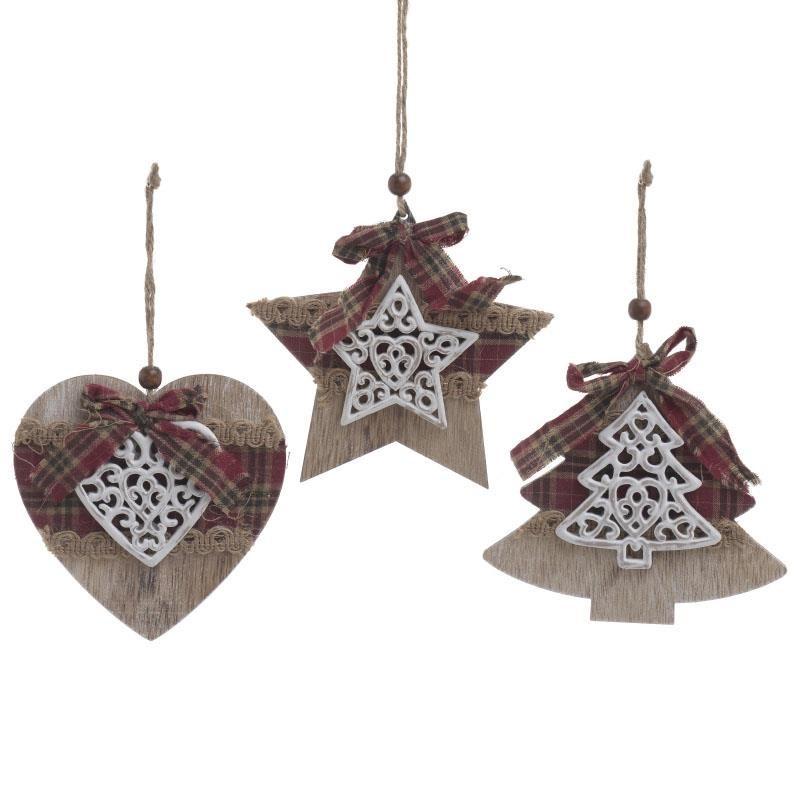 Χριστουγεννιάτικα Στολίδια (Σετ 3τμχ) InArt 2-70-428-0017