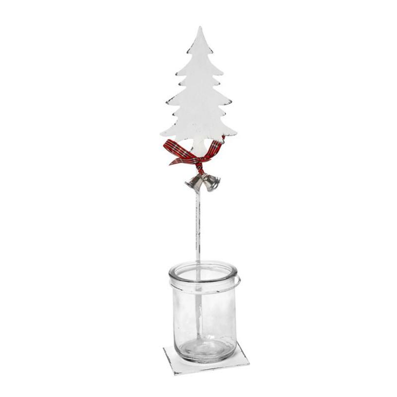 Χριστουγεννιατικό Κηροπήγιο Espiel Μικρό Έλατο AST525