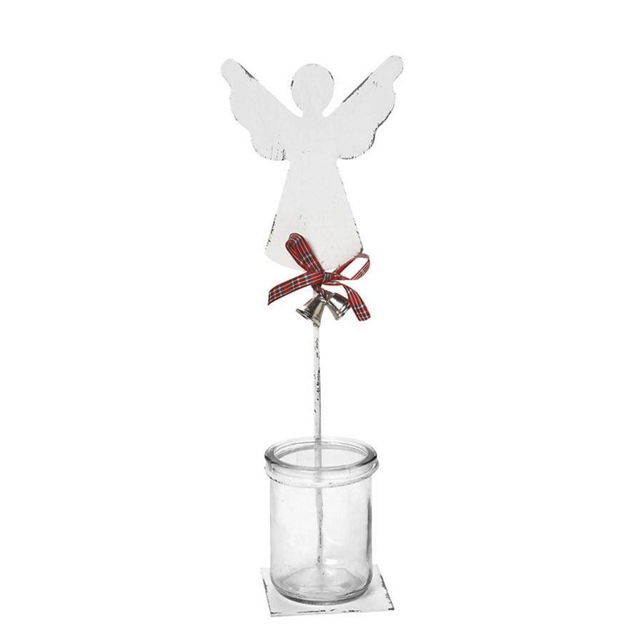 Χριστουγεννιατικό Κηροπήγιο Espiel Μεγάλος Άγγελος AST526