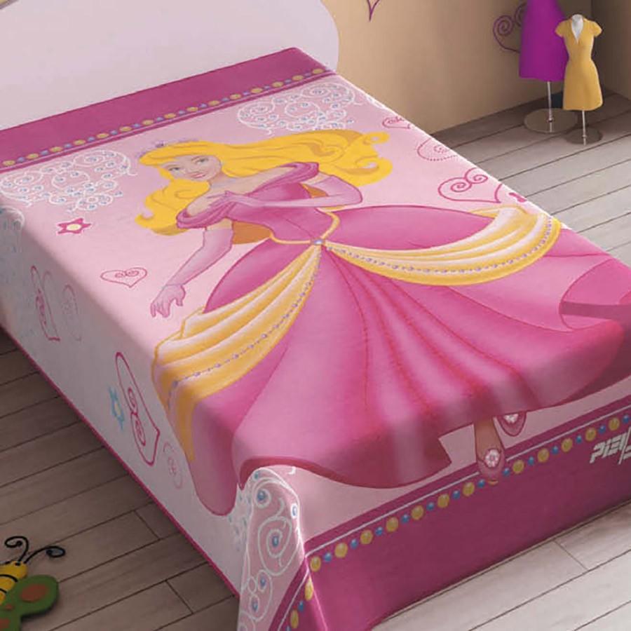 Κουβέρτα Βελουτέ Μονή White Clouds Princess