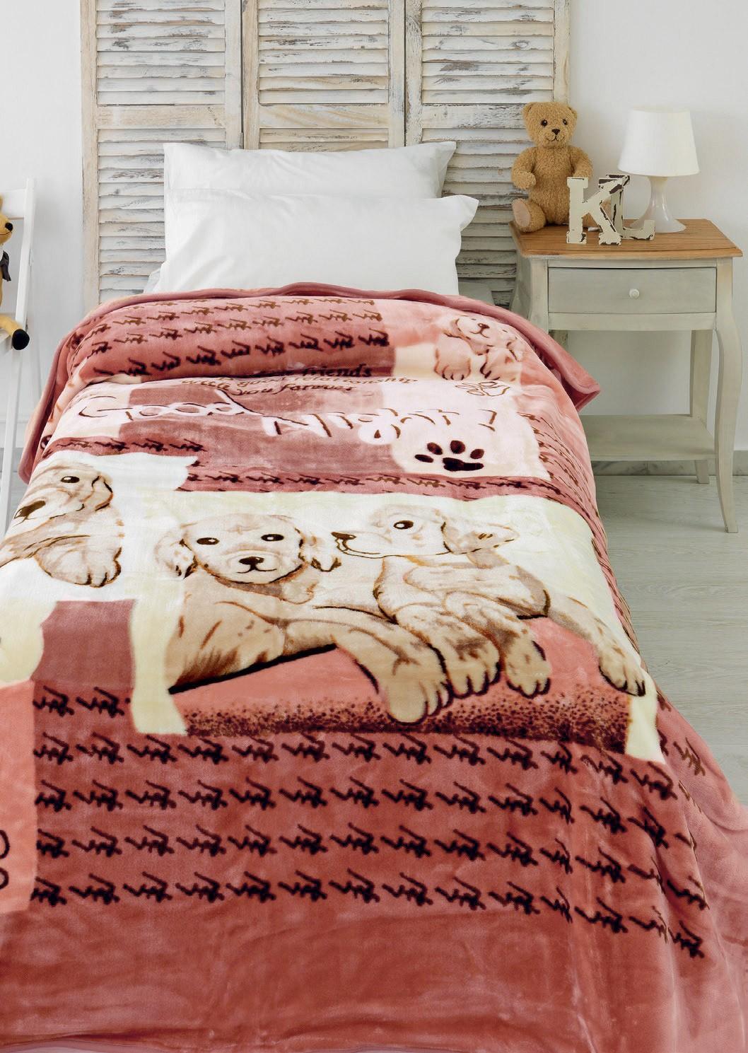 Κουβέρτα Βελουτέ Μονή Palamaiki Velour Blankets 853