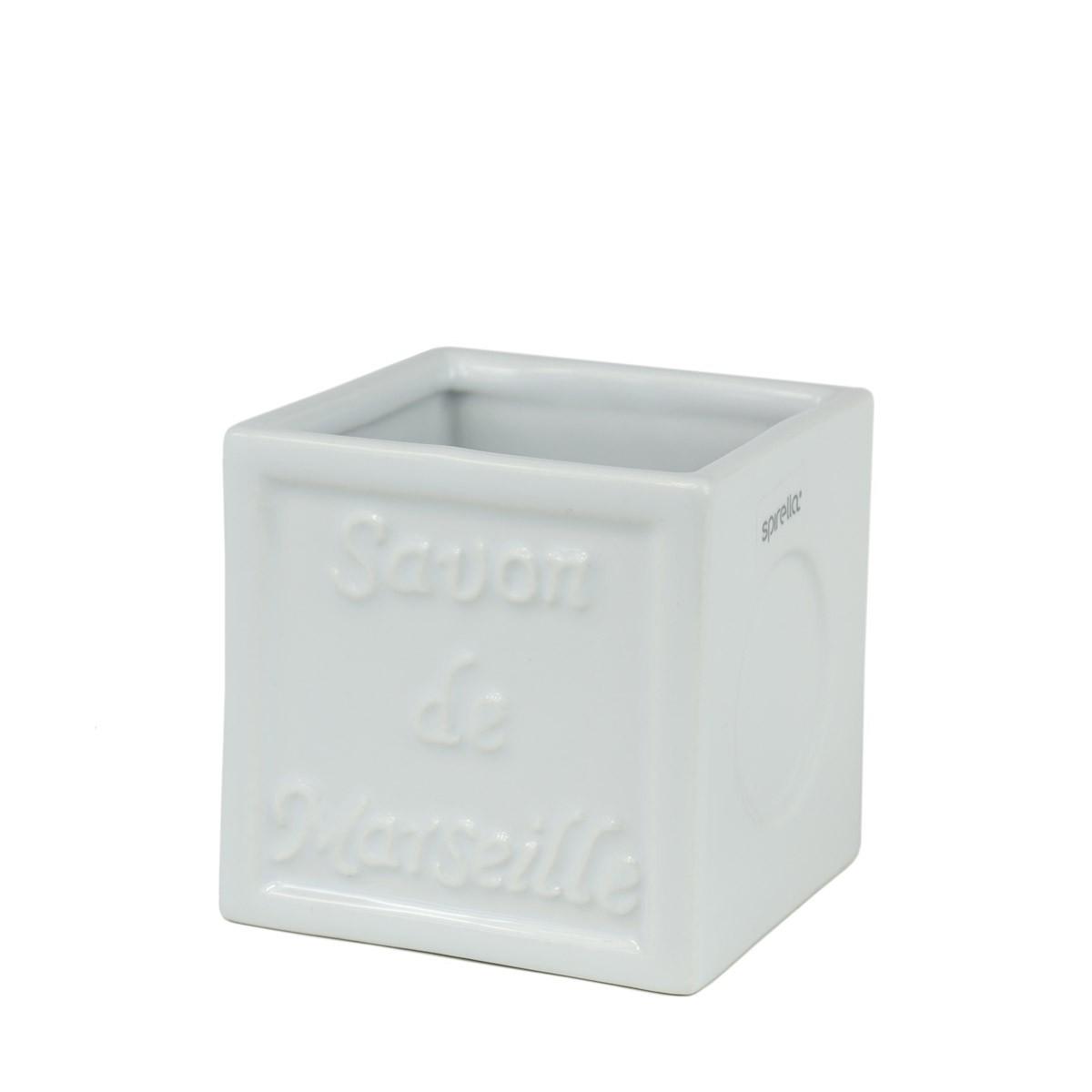 Ποτήρι Οδοντόβουρτσας Spirella SavonDeMarseille 02773 White