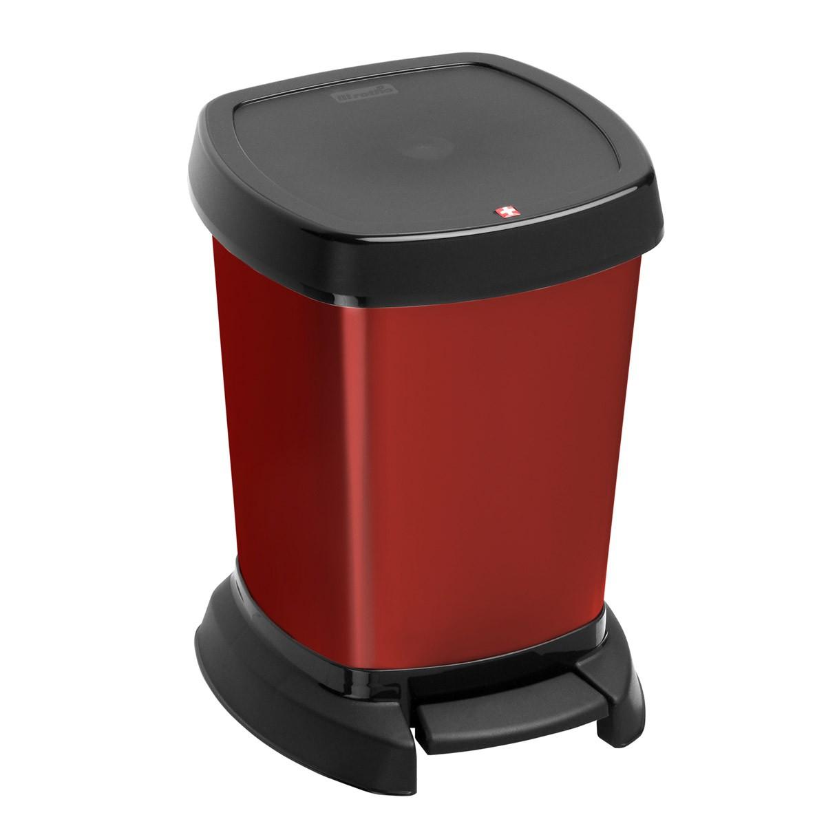 Κάδος Απορριμάτων Rotho 6Lit Paso 06973 Κόκκινο
