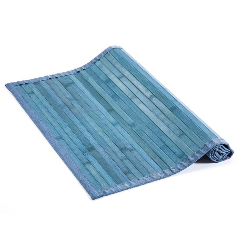 Πατάκι Μπάνιου (50x80) Spirella Bamboo Yalong 00315.002 Marine