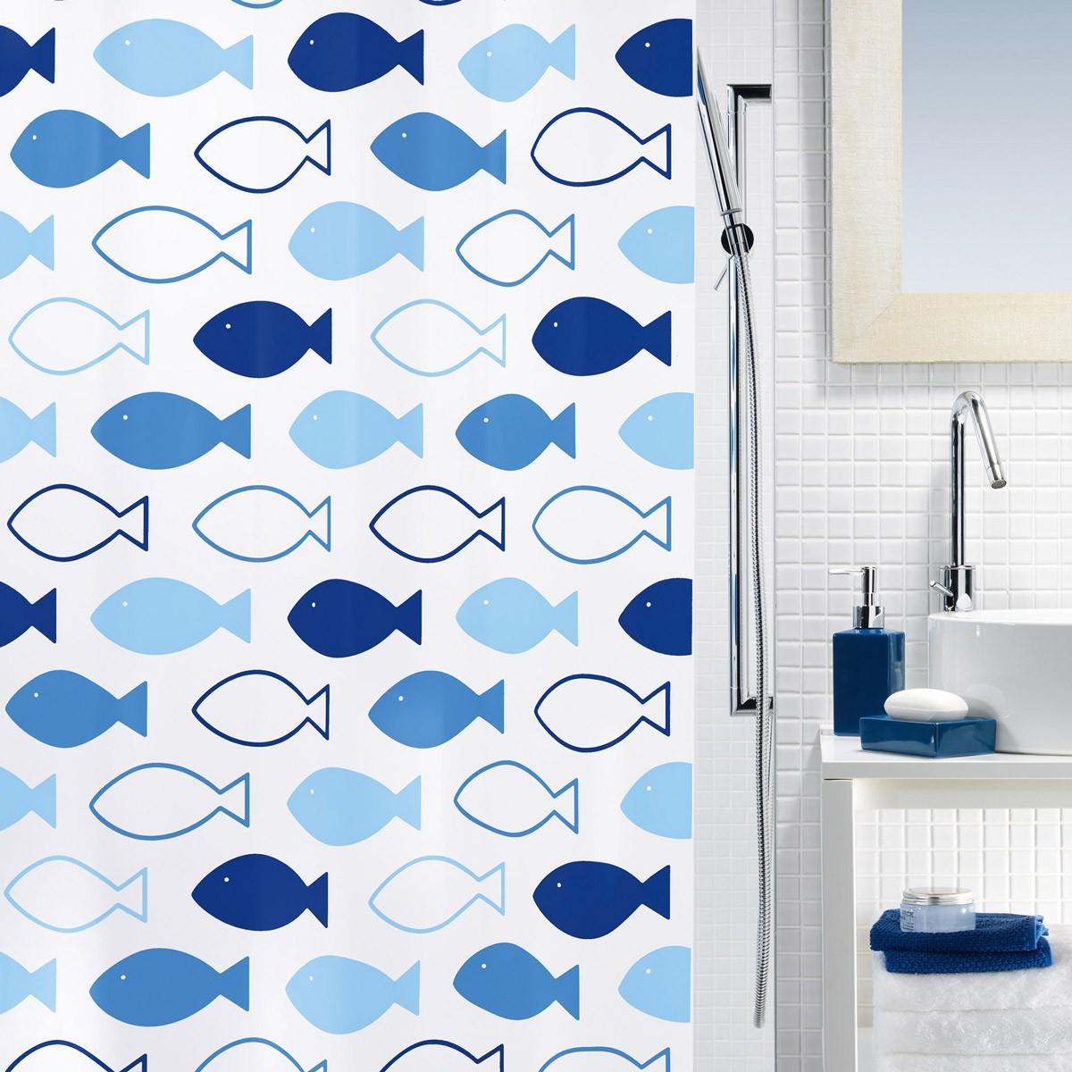 Κουρτίνα Μπάνιου Πλαστική (180x200) Rainbow Fishin Marine