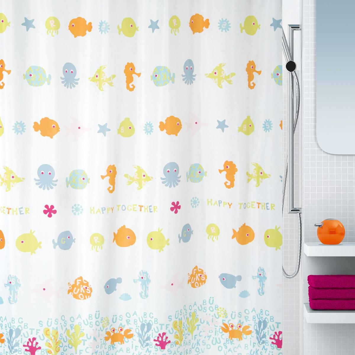Κουρτίνα Μπάνιου (180×200) LifeStyle Pesci