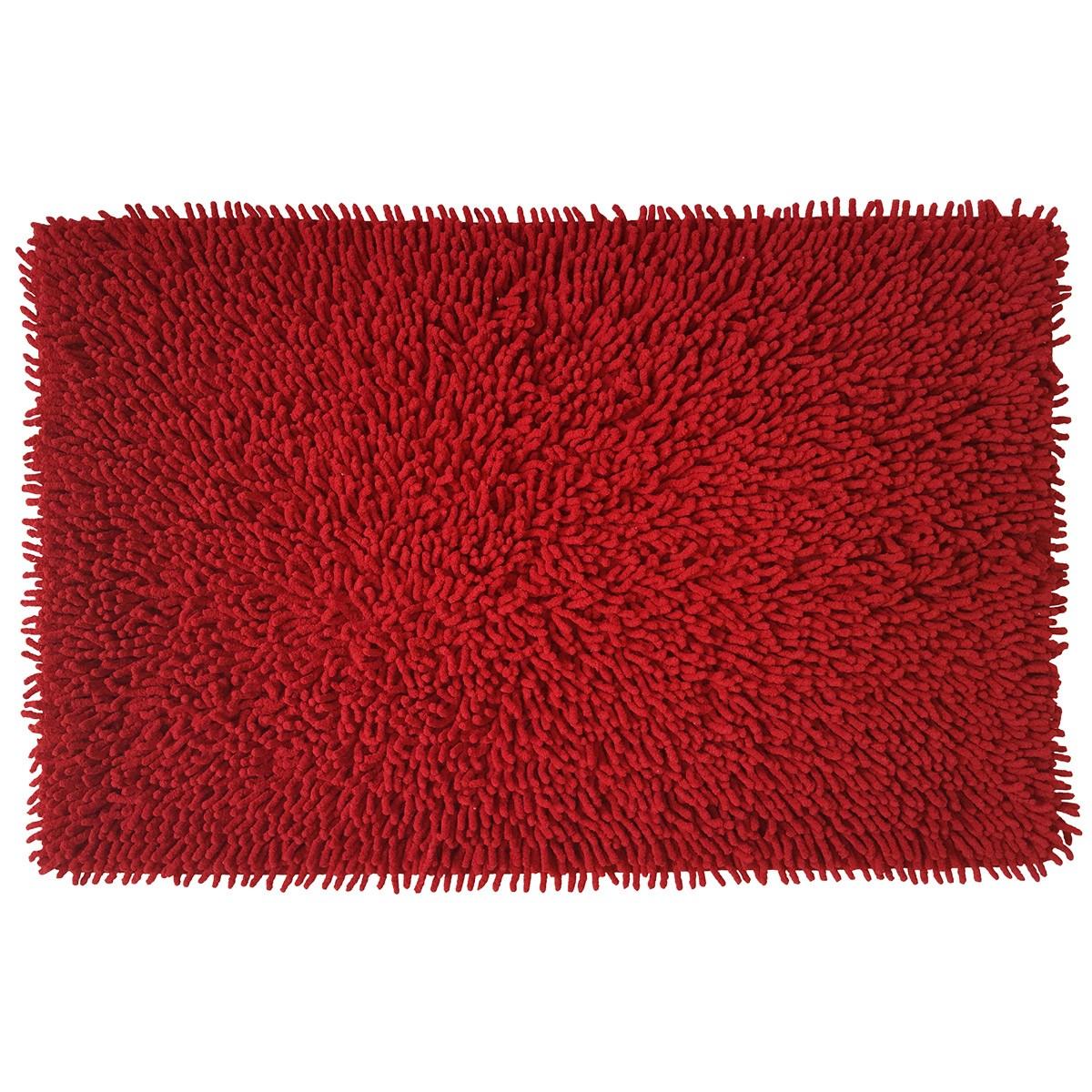 Πατάκι Μπάνιου (50x80) Raibow Chenille Loop 05567 Κόκκινο/Βυσσιν