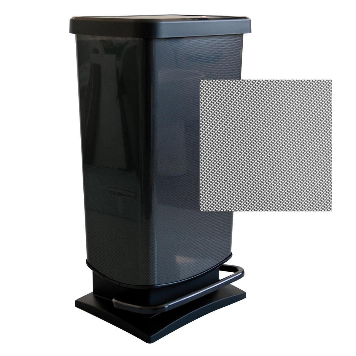 Κάδος Απορριμάτων Rotho 40Lit Paso 06904 Μαύρο home   κουζίνα   τραπεζαρία   κάδοι απορριμμάτων