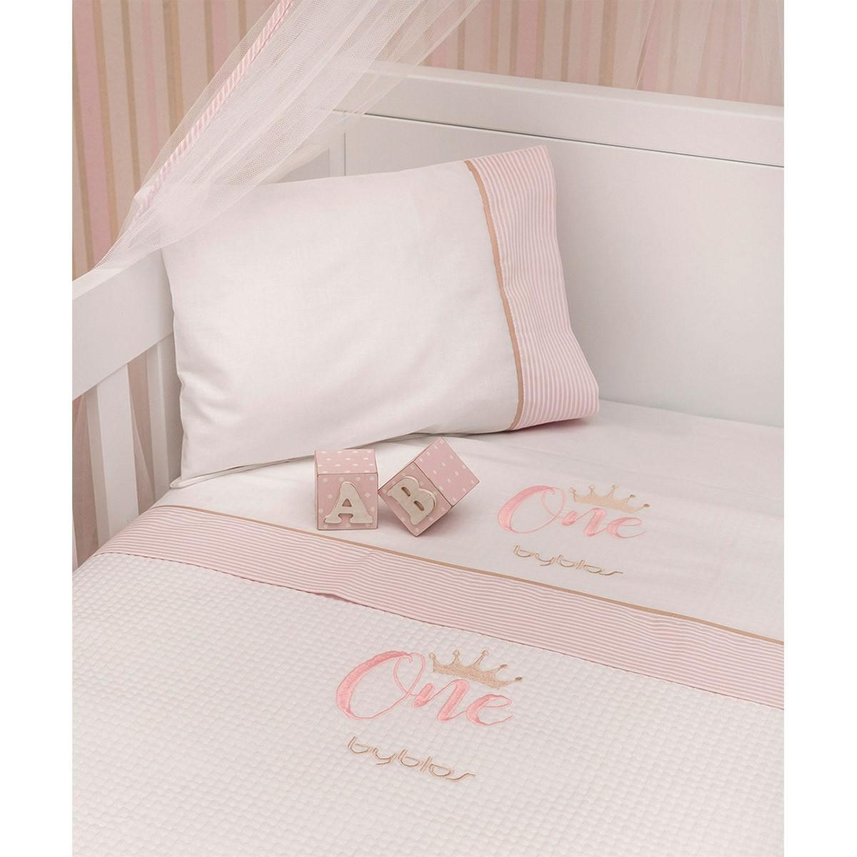 Σεντόνια Κούνιας (Σετ) Byblos Des 83 One Pink