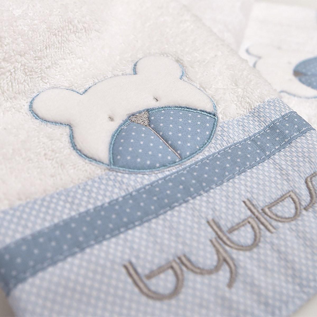 Βρεφικές Πετσέτες (Σετ 2τμχ) Byblos Des 80 Amici Blue