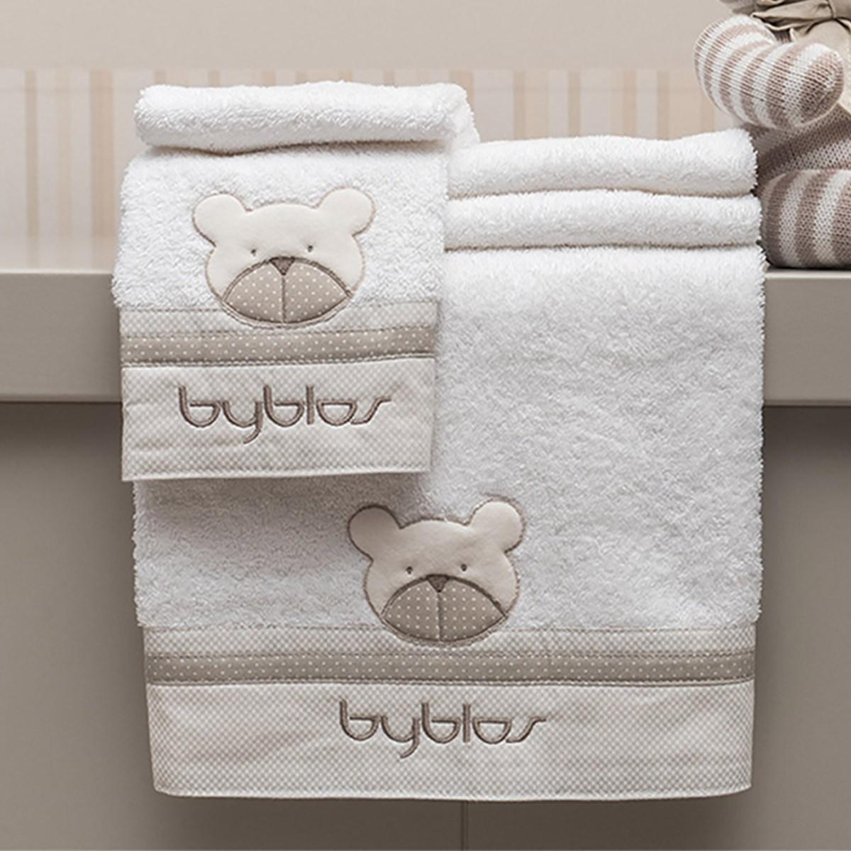 Βρεφικές Πετσέτες (Σετ 2τμχ) Byblos Des 81 Amici Beige