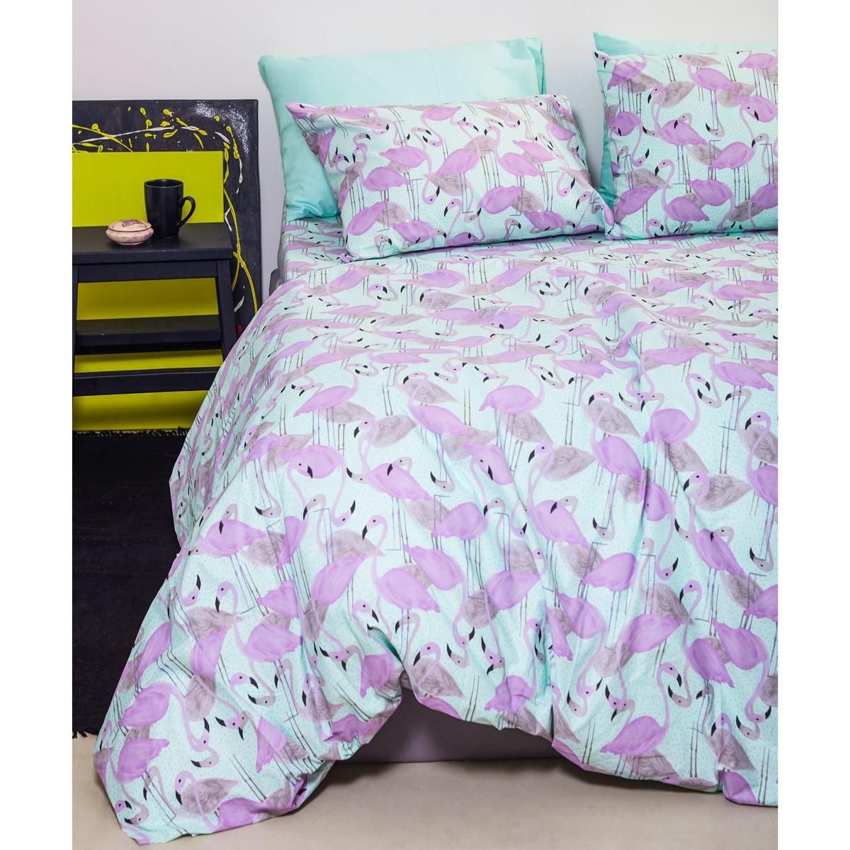 Παπλωματοθήκη Μονή Melinen Teens Flamingo Lilac
