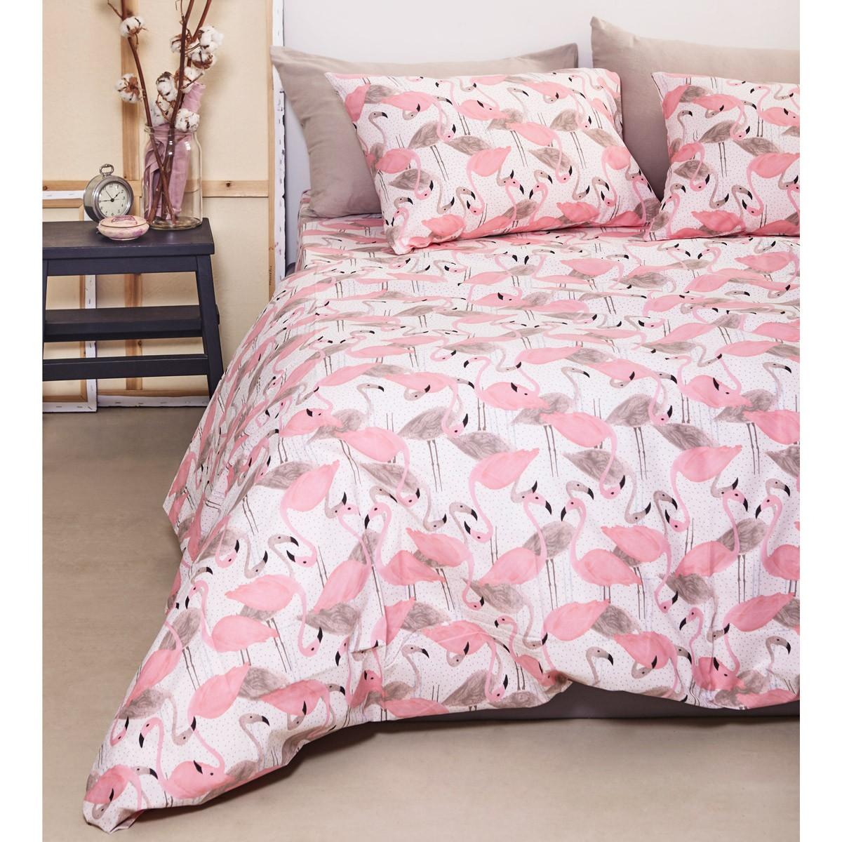 Ζεύγος Μαξιλαροθήκες Melinen Teens Flamingo Pink