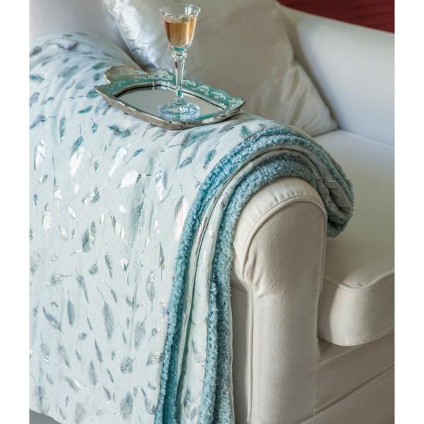 Κουβέρτα Καναπέ Melinen Sparkle Silver