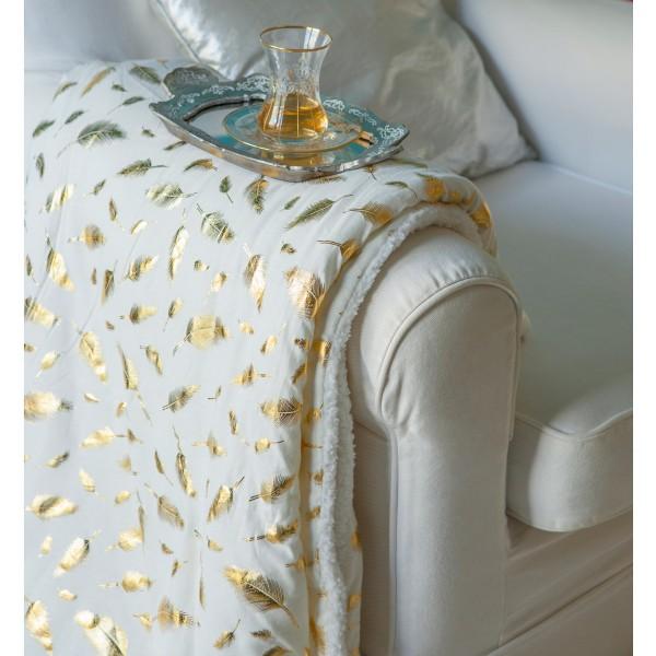 Κουβέρτα Καναπέ Melinen Sparkle Gold