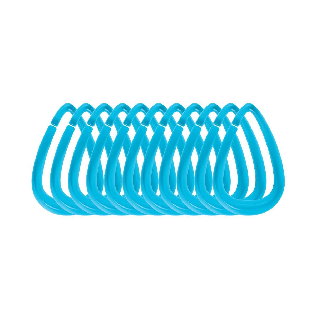 Κρίκοι Κουρτίνας Μπάνιου 12τμχ Spirella Drop 03819 Aqua