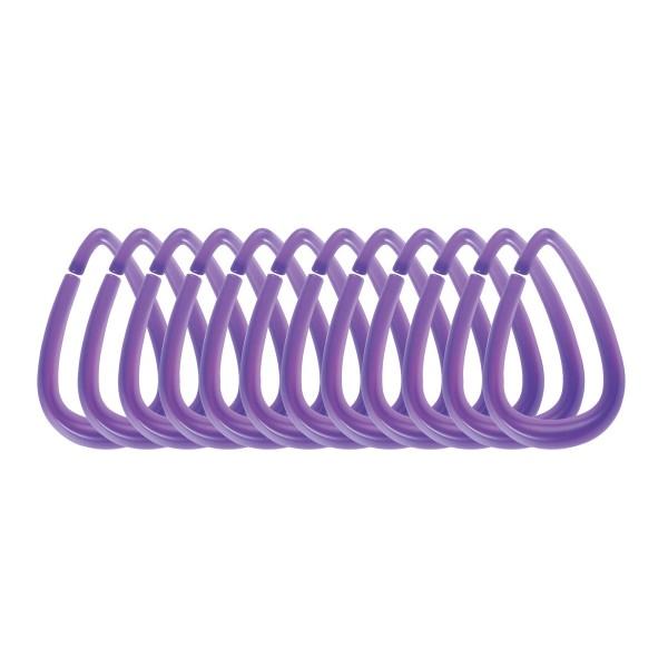 Κρίκοι Κουρτίνας Μπάνιου 12τμχ Spirella Drop 03819.003 Violet