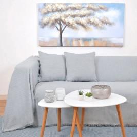 Ριχτάρι Πολυθρόνας (180x180) Ravelia Silva Grey