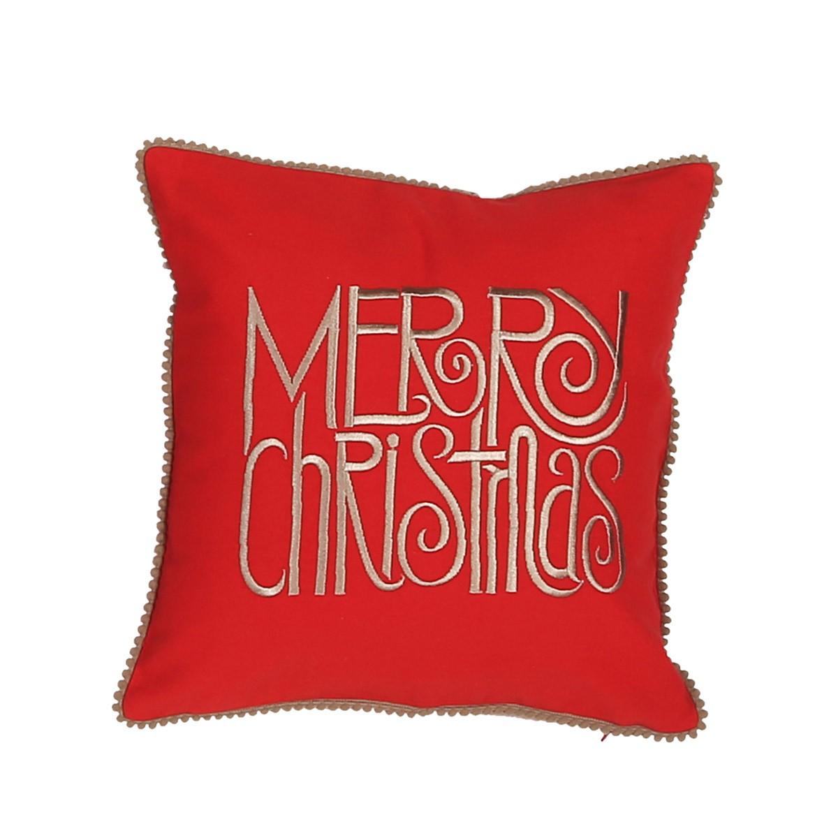 Χριστουγεννιάτικο Μαξιλάρι (30x30) Nef-Nef Merry Christmas home   χριστουγεννιάτικα   χριστουγεννιάτικα μαξιλάρια