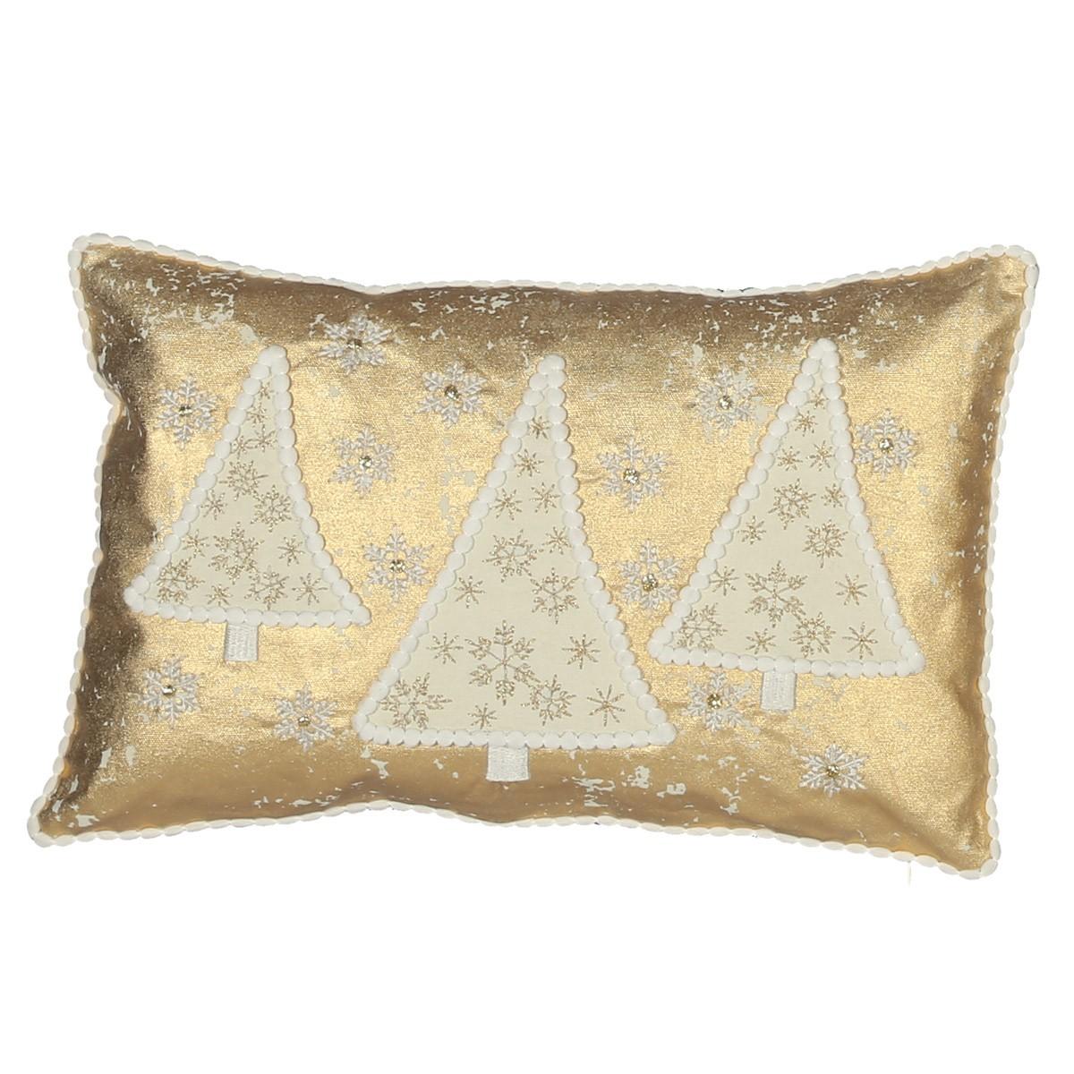 Χριστουγεννιάτικο Μαξιλάρι Nef-Nef Golden Tree home   χριστουγεννιάτικα   χριστουγεννιάτικα μαξιλάρια