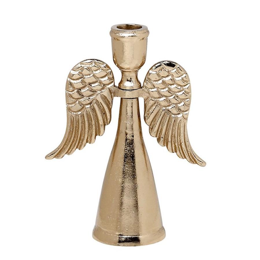 Χριστουγεννιάτικο Κηροπήγιο Espiel Μεγάλος Άγγελος Χάλκινος VAL4
