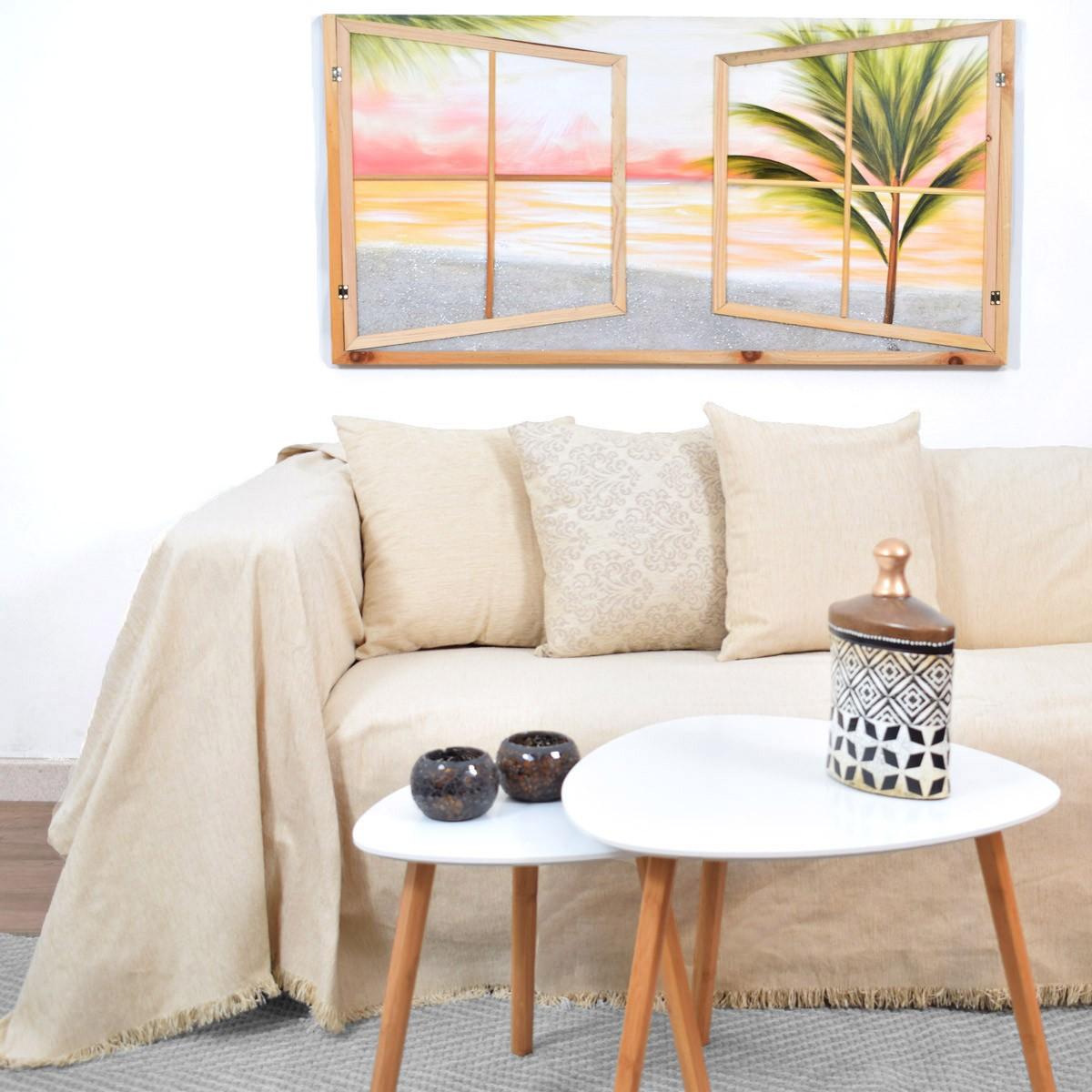 Ριχτάρι Πολυθρόνας (180×180) Ravelia Claro Ivory