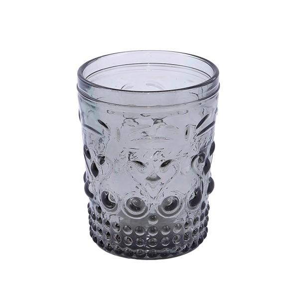 Ποτήρια Ουίσκι (Σετ 6τμχ) Espiel Embossed Grey HOC1005