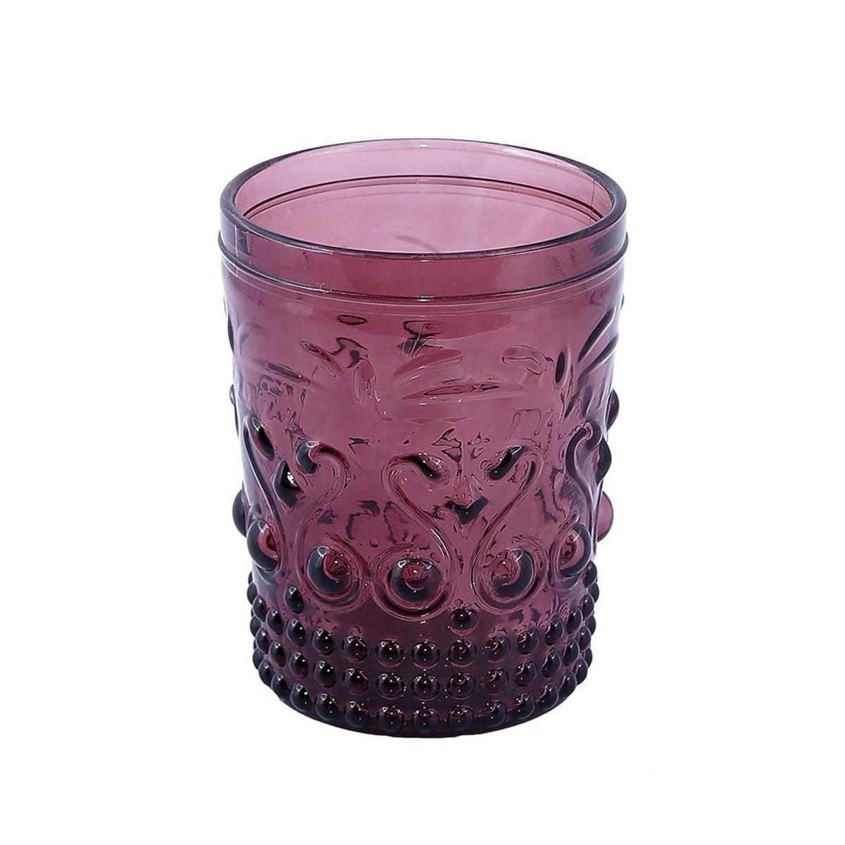 Ποτήρια Ουίσκι (Σετ 6τμχ) Espiel Embossed Purple HOC1006