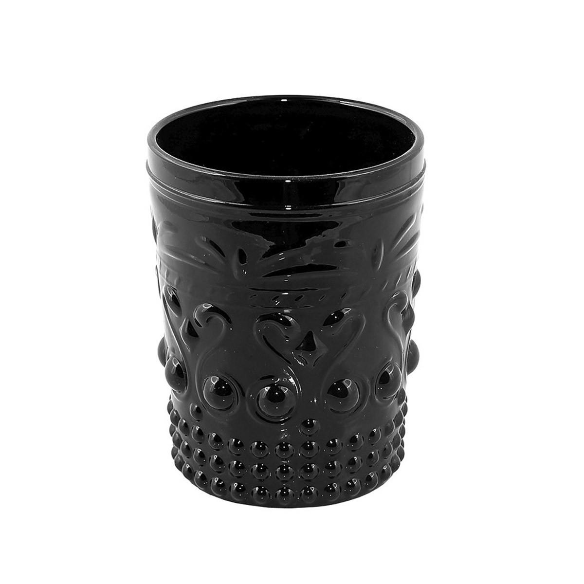Ποτήρια Ουίσκι (Σετ 6τμχ) Espiel Embossed Black HOC1007