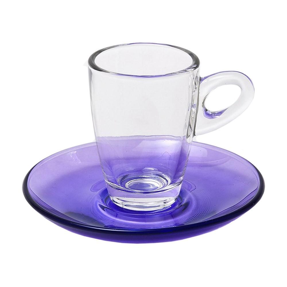 Φλυτζάνια Καφέ + Πιατάκια (Σετ 6τμχ) Espiel Espresso Purple STE1