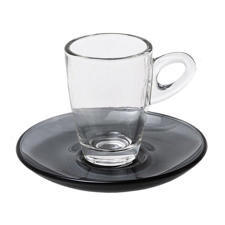 Φλυτζάνια Καφέ + Πιατάκια (Σετ 6τμχ) Espiel Espresso Black STE11