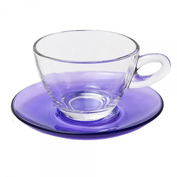 Φλυτζάνια Καφέ + Πιατάκια (Σετ 6τμχ) Espiel Cappuccino Purple STE118200P