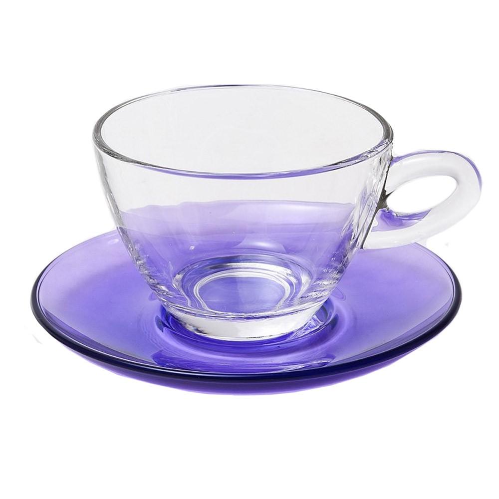 Φλυτζάνια Καφέ + Πιατάκια (Σετ 6τμχ) Espiel Cappuccino Purple ST