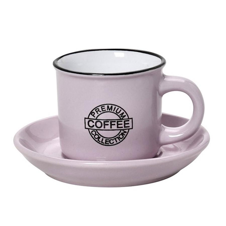 Φλυτζάνι Καφέ + Πιατάκι Espiel Coffee Pink Large HUN308K6 home   κουζίνα   τραπεζαρία   κούπες   φλυτζάνια
