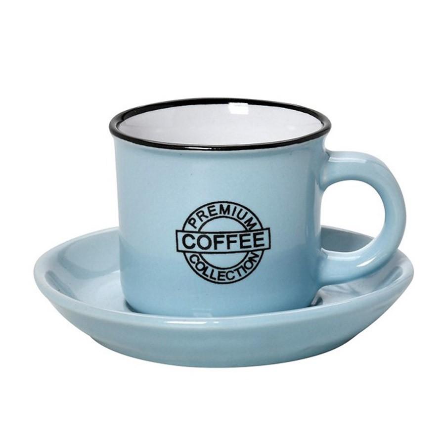 Φλυτζάνι Καφέ + Πιατάκι Espiel Coffee Blue Large HUN309K6 home   κουζίνα   τραπεζαρία   κούπες   φλυτζάνια