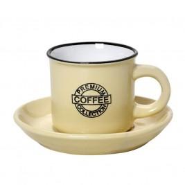 Φλυτζάνι Καφέ + Πιατάκι Espiel Coffee Yellow Large HUN310K6