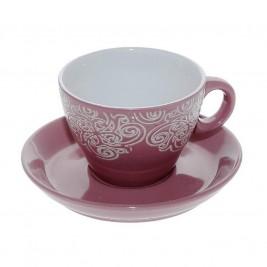 Φλυτζάνι Καφέ + Πιατάκι Espiel Pink Large HUN121K6