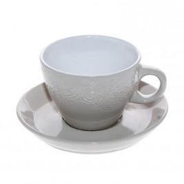 Φλυτζάνι Καφέ + Πιατάκι Espiel Beige Large HUN123K6