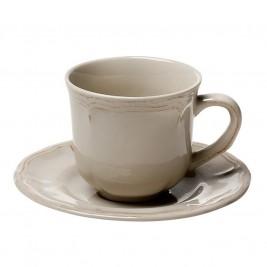 Φλυτζάνι Καφέ + Πιατάκι Espiel Antique Beige Large HUN204K6