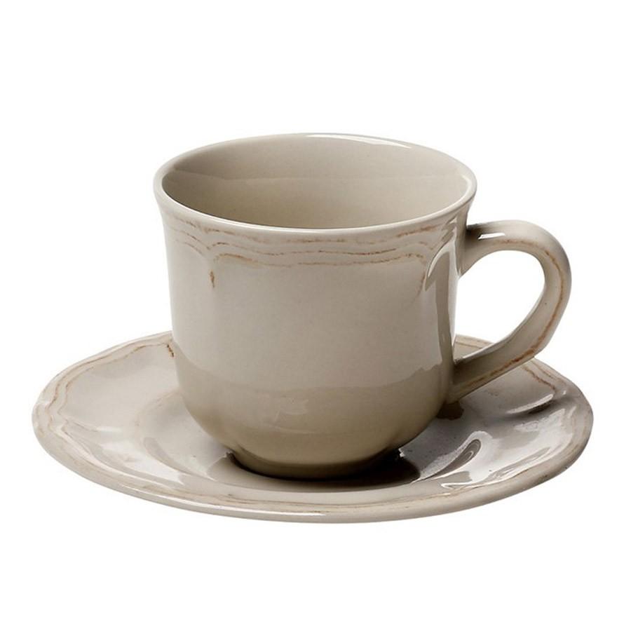 Φλυτζάνι Καφέ + Πιατάκι Espiel Antique Beige Large HUN204K6 home   κουζίνα   τραπεζαρία   κούπες   φλυτζάνια